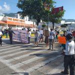 Bloqueo Frente al Palacio Municipal de Acapulco